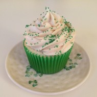 Vanilla Cupcakes with Irish Cream Frosting