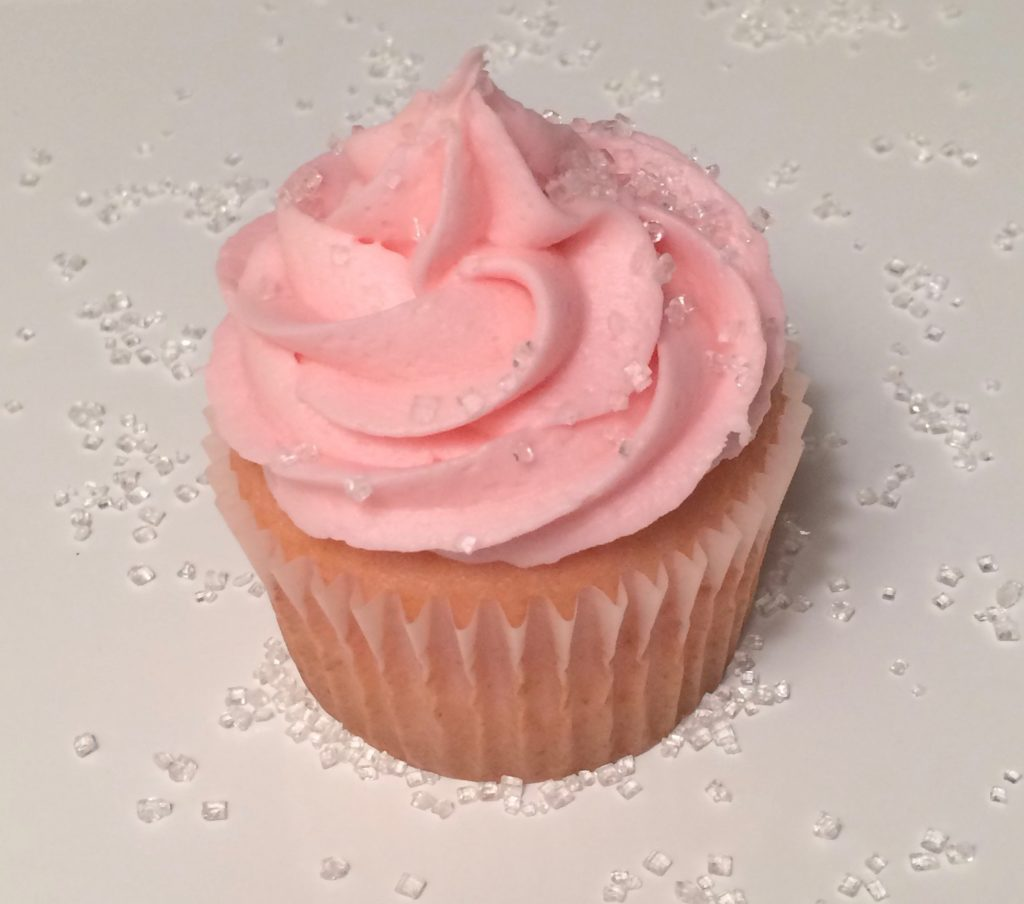 Pink Champagne Cupcakes with Champagne Buttercream Frosting